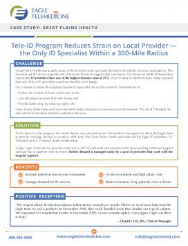 Telemedicine for Infectious Disease Case Study